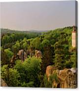 View Of Trosky Castle In A Village Canvas Print