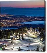 View Of Vancouver City From Grouse Mountain Canvas Print