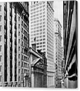 View Of Wall Street Canvas Print