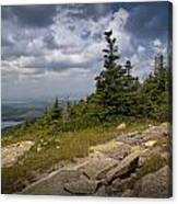 View On Top Of Cadilac Mountain In Acadia National Park Canvas Print