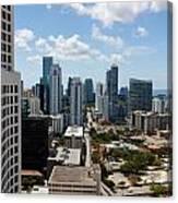 View Over Brickell Miami Canvas Print
