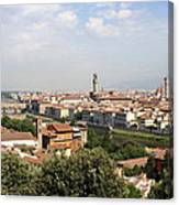 View Over Florence Canvas Print