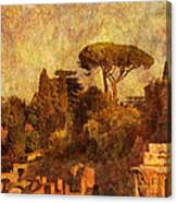 View Over The Forum In Rome Canvas Print