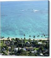 View Overlooking The Coastline Canvas Print