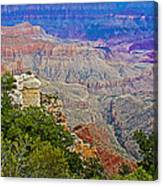 View Seven From Walhalla Overlook On North Rim Of Grand Canyon-arizona Canvas Print