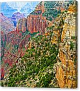 View Six From Walhalla Overlook On North Rim Of Grand Canyon-arizona Canvas Print