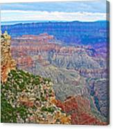 View Three From Walhalla Overlook On North Rim Of Grand Canyon-arizona  Canvas Print