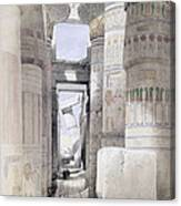 View Through The Hall Of Columns Canvas Print