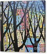 View Through The Park Canvas Print