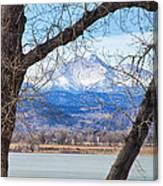 View Through The Trees To Longs Peak Canvas Print