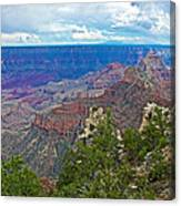 View Two From Walhalla Overlook On North Rim Of Grand Canyon-arizona Canvas Print