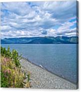 View Two Kluane Lake From Cottonwood Campground Near Destruction Bay-yk Canvas Print