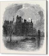 Views On The Embankment, London, 1870 Canvas Print