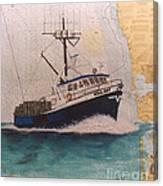 Vigilant Crab Fishing Boat Nautical Chart Art Canvas Print