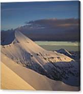 Vihren Peak In A Winter Outfit Canvas Print