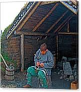 Viking Fisherman At L'anse Aux Meadows-nl  Canvas Print