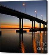 Vilano Bridge At Dusk St Augustine Florida Canvas Print