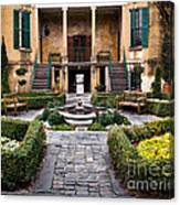 Villa Courtyard Canvas Print