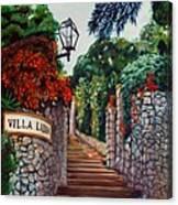 Villa Lidia Canvas Print