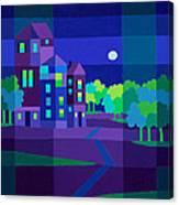 Villa Night Canvas Print