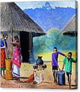 Village Chores Canvas Print