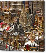 Village Christmas Scene Canvas Print