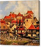 Village De Fleuris Canvas Print