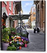 Village Flowershop Canvas Print