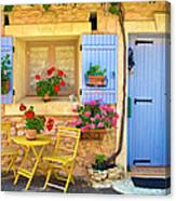 Village House In The Tiny Luberon Canvas Print
