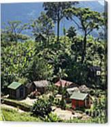 village in eastern Madagascar Canvas Print