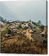 Village In Sikkim Canvas Print