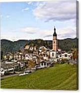 Village In The Dolomites Canvas Print