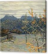 Village In The Ural Mountains Canvas Print