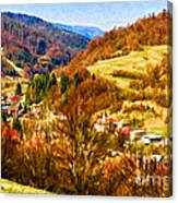 Village In The Valley Canvas Print