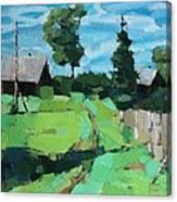 Village Meadow Canvas Print