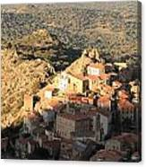 Village Of Speloncatu In Corsica Canvas Print
