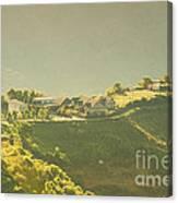 Village On Mountain Canvas Print