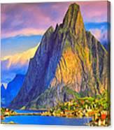 Village On The Naeroyfjord Norway Canvas Print