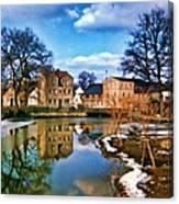 Village Reflections Canvas Print