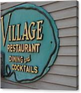 Village Restaurant Canvas Print