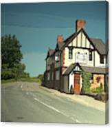 Village Scene In Middle Mayfield, The Rose And Crown Public Canvas Print