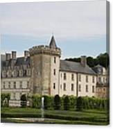 Villandry Chateau And Boxwood Garden Canvas Print
