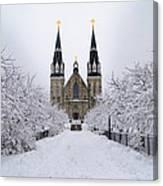 Villanova University In The Snow Canvas Print