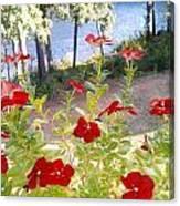 Vinca Lakeview Canvas Print