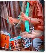 Vince Lateano On Drums Canvas Print