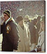 Vince Lombardi On The Sideline Canvas Print