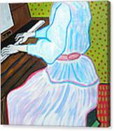 Vincent Van Gogh's Marguerite Gachet Playing At The Piano Canvas Print