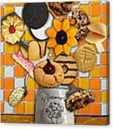 Vincent's Sunflower Cookie Jar Canvas Print