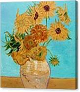 Vincent's Sunflowers Canvas Print