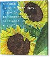 Vince's Sunflowers 1 Canvas Print